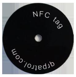 10 On Metal Self Adhesive Black Nfc Tags Qr Patrol